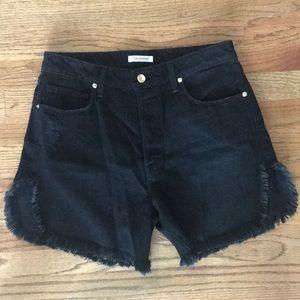 Good American Black Jean Shorts